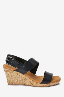 Next Forever Comfort Cork Detail Two Band Wedges - 261743