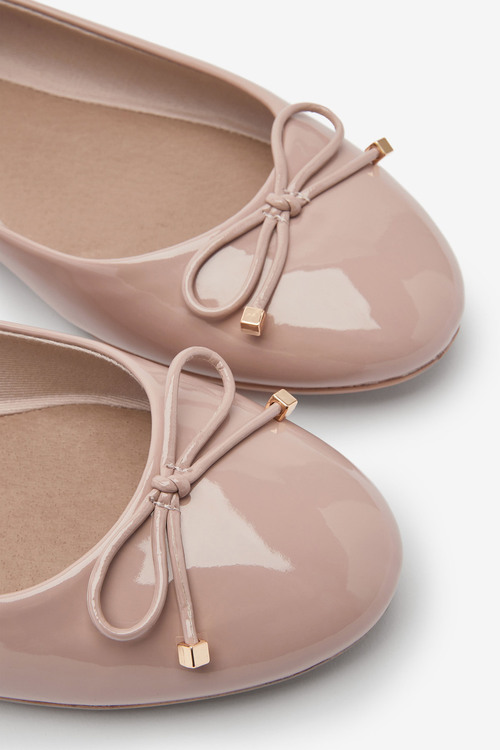 Next Forever Comfort Ballerina Shoes-Wide Fit