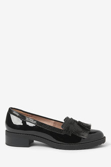 Next Cleated Fringe Loafers-Wide Fit - 261789