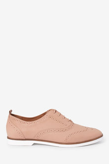 Next EVA Leather Brogues-Wide Fit - 261791
