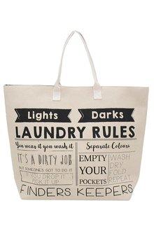 Bambury Laundry Rules Laundry Bag - 261944