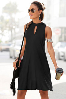 Urban Keyhole Short Dress - 262033