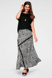 Urban Patchwork Animal Maxi Skirt - 262041
