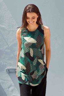 Urban Sleeveless Printed Tunic Top - 262049