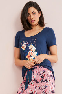 Mia Lucce Floral Print Soft Tee - 262091