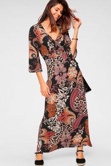 Urban Printed Bell Sleeve Maxi Dress - 262156