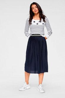 Urban Pleated Midi Skirt - 262158