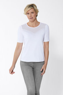 Euro Edit Hotfix and Lace detail Tee - 262164