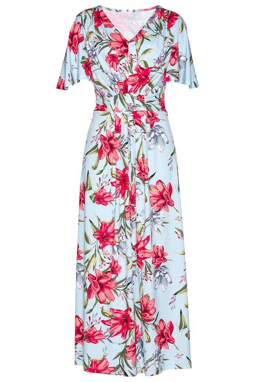Euro Edit Floral Print Maxi Dress
