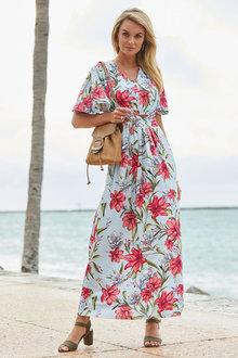 Euro Edit Floral Print Maxi Dress - 262173