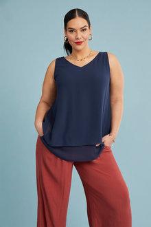 Sara Wide Leg Drape Pant - 262265