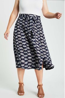 Sara Side Button Skirt - 262274