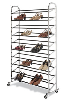 Whitmor 10-Tier 50-Pair Shoe Tower - 262289