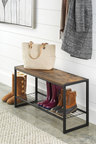 Whitmor Modern Industrial Entryway Bench