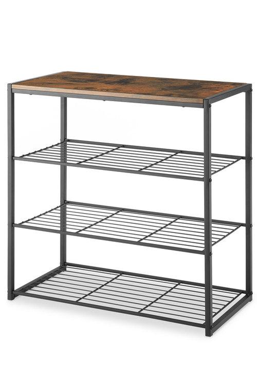 Whitmor Modern Industrial 4 Tier Shelf