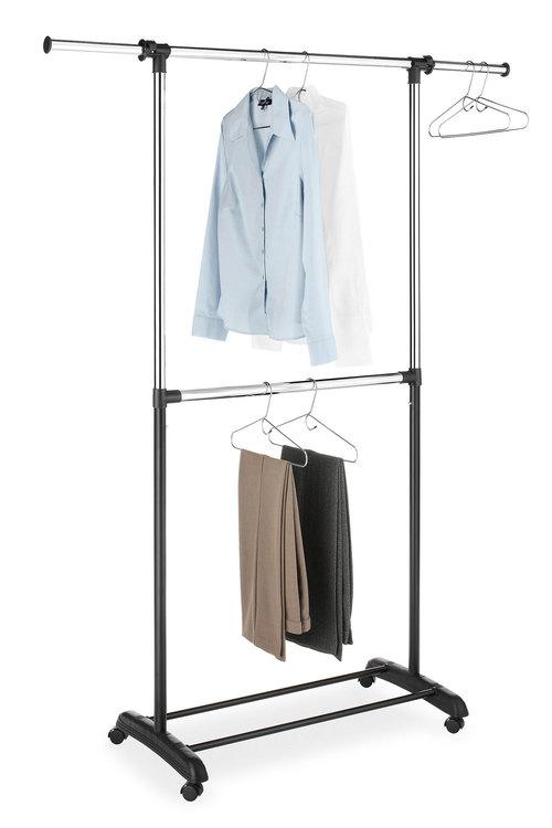 Whitmor Adjustable 2 Rod Garment Rack