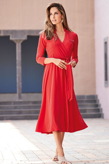 European Collection Belted Long Dress - 262304