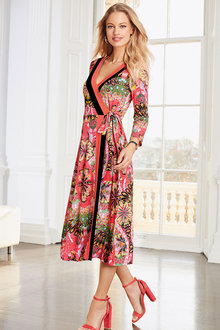 European Collection Slinky Printed Dress - 262305