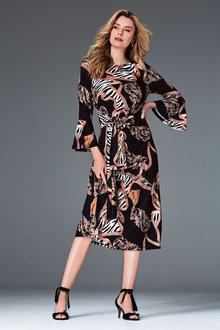 Kaleidoscope Print Dress - 262310