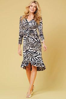 Kaleidoscope Animal print flounce dress - 262312