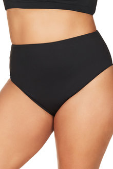 Hues Black Cezanne High Waist Swim Pant - 262337