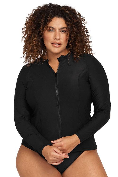 Artesands Long Sleeve Length, Full Zipper Front Sun Safe Top