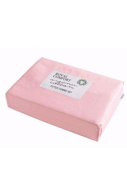 Royal Comfort 100% Organic Cotton Fitted Sheet Combo Pack