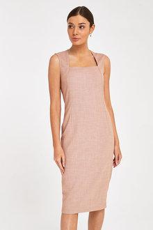 Next Sharkskin Tailored Dress - 262415