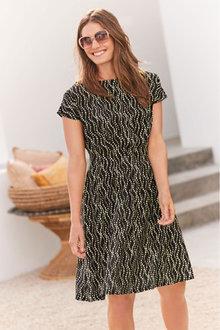 Next Waist Detail Short Sleeve Dress - 262421