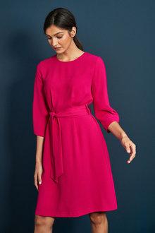 Next Crepe Belted Dress - 262428