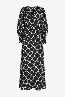 Next Emma Willis Animal Wrap Dress - 262432