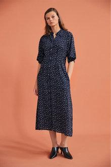 Next Short Sleeve Midi Shirt Dress - 262439