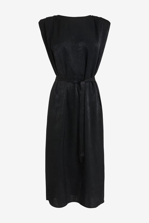 Next Satin Shoulder Pad Dress