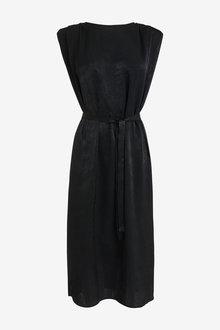 Next Satin Shoulder Pad Dress - 262480