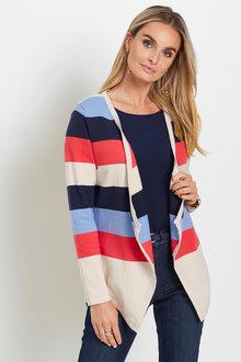 Euro Edit Stripe Cardigan - 262502