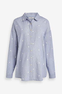 Next Maternity Chambray Spot Shirt - 262509