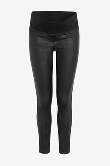 Next Maternity Coated Denim Leggings - 262537