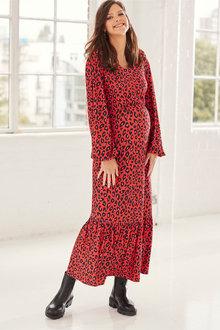 Next Maternity Jersey Tiered Dress - 262553