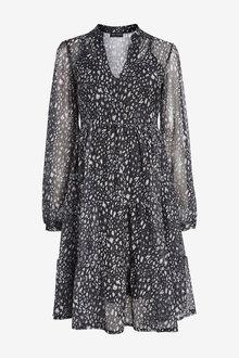 Next Maternity Mesh Tier Dress - 262556