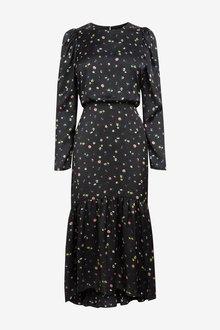 Next Volume Sleeve Tiered Dress - 262561