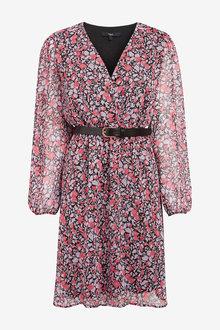 Next Belted Wrap Dress - 262562