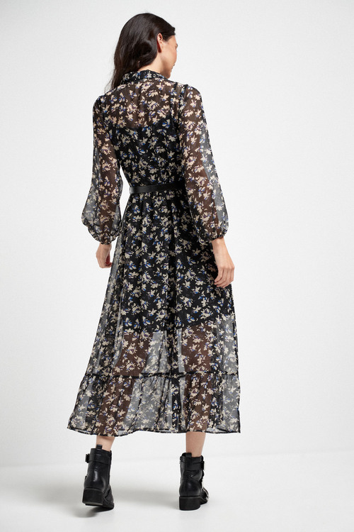 Next Button Down Belted Dress