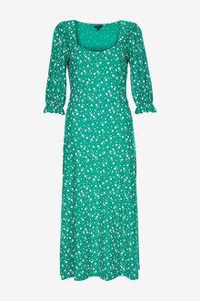 Next Short Sleeve Midi Dress - 262588