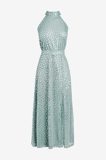 Next Halterneck Spot Dress - 262592