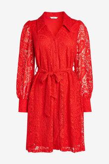 Next Lace Shirt Dress - 262598