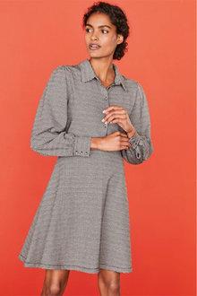 Next Check Jacquard Shirt Dress - 262603