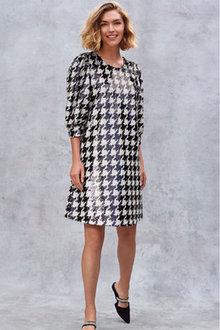 Next Dogtooth Sequin Mini Dress - 262609