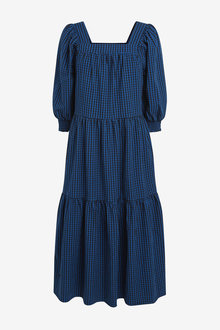 Next Square Neck Tiered Midi Dress - 262626