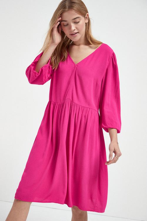 Next Balloon Sleeve Mini Dress