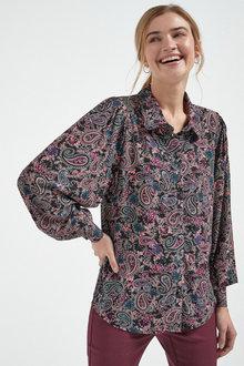 Next Curved Collar Soft Shirt - 262716